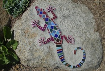 mosaic lizards, frogs and other animals