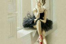 balettos nő az ablakban