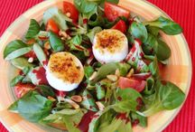 zöldség saláták