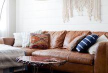 Tan leather sofa love