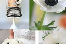 Black & White wedding flowers / Black & White fiowers and decorations. Fiori e allestimenti per un matrimonio a tema Bianco & Nero