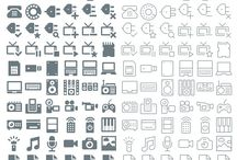 Icons / For digital applications / by Laura Delichte