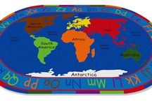 Classroom Map Rugs / Educational Map rugs for kids