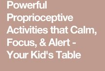 Proprioceptive -- ALL SORTS OF ACTIVITIES