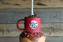 Coffee Themed Cakes / Coffee, Starbucks, TIm Horton's Coffee Inspired Wedding Cakes, Birthday Cake Ideas