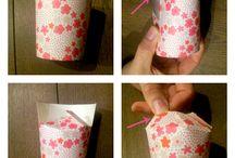 cadeau bekertje van papieren beker maken