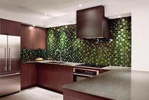 Modern Kitchen with Asian Furniture
