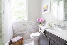 Gray small bathroom