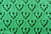 knit lace heart
