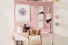 Fayènn's new bedroom / White pink girls bedroom unicorns pastel