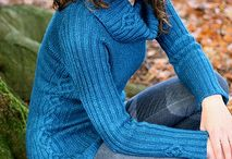 Scrumptious Knits / A stunning collection of 7 patterns from Carol Feller, 3 garments and 4 accessories, all knit from Fyberspates Scrumptious yarn in a range of weights from lace weight right up to chunky.