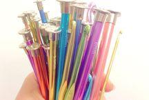 Knitting Needles and Crochet Hooks / Gilliangladrag Candy coloured knitting needles and crochet hooks