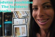 Produtos recebidos da The Insiders-Resenha.