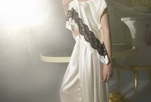 Lina Liri's Unique Silk Creation Pajama Set With Applique Italian Lace. / Lina Liri's Unique Silk Creation Pajama Set With Applique Italian Lace.