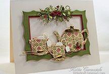 Card, wreaths