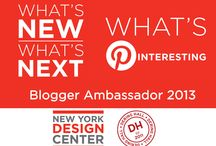 "Blogger Ambassador 2013: What's Pinteresting / The NYDC's favorite designer bloggers helped to promote the new products being introduced at ""What's New, What's Next"" on September 19, 2013.  Find their inspiration below pulled from NYDC showrooms and Dering Hall storefronts. Repin your favorites!  For more information on ""What's New, What's Next,"" visit www.nydc.com/wnwn"