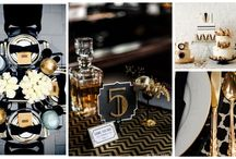 Great Gatsby Themed Party, / Munz fav colors: Black, Gold & Silver  Ideas, colors, for the party of the year.... Great Gatsby