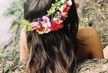 Flowers (in her hair)