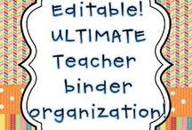 Teacher binders