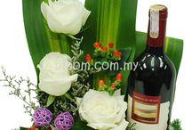 kwiaty i wino