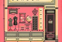 shop façade illustration