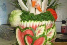 Arte con frutas y vegetales