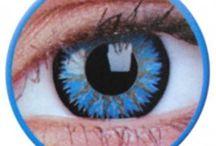 Lentile de contact colorate Glamour / www.lensa.ro - Lentile de contact colorate gama Glamour. Culori disponibile: albastre, verzi, caprui, gri, negre, gri, violet.