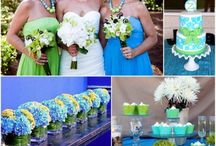 Wedding- Blue and Green in Vegas