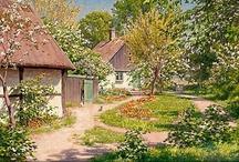 Realism:Swedish painter ♫ ♪ ♥●•٠·˙ ☯ / Johan Krouthén (2 novembre 1858 — 19 décembre 1932) est un peintre suédois. Il a rompu avec les traditions de l'Académie suédoise, se tournant vers le Réalisme et l'Idéalisme. Immédiatement après ses études, il passa quelques mois à Paris et au Danemark où il fit partie des peintres de Skagen. De retour en Suède, il peint des jardins et des portraits de personnes locales.