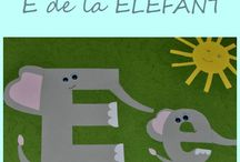 Litera E / Letter E / Invatam literele alfabetului. Litera E
