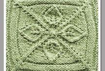 fiori con 4 ferri / motivi a maglia da lavorare in tondo con 4 ferri