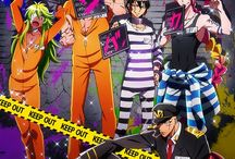 пΠ|Nanbaka|Πп / This anime about a prison in somewhere in the sea, where was 4 guy, who are just extending their prison sentences here in the Nanba Prison. Nico, the anime-fan, Uno, the womanizer and gambler, Rock, the always hungry guy, and Juugo, who does not know anything else except the escaping. A (seriusly) colorful really funny action and prison anime, I recommend it for everyone, who like to laugh and to be excited! Watch it if you think /(*3*)/