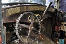 Rat rod interiors/steampunk / Interior ideas, hood ornaments,auto signs/art, & steampunk. / by Frank McCart