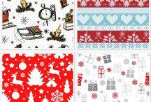Tkaniny zasłonowe deKEA na Boże narodzenie / Piekne tkaniny bawełniane deKEA na zasłony i poduszki