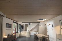 Good looking wood house interiors