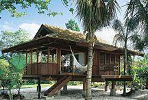 casa de praia e campo