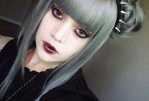Goth/emo/halloween makeup styles