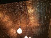 copper backsplash/celing tintiles
