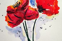 My art / Fashion illustration,  watercolour, sketches