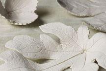 hojas en ceramica