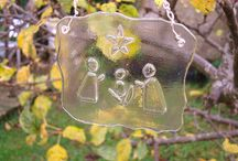 fused glass nativity