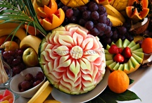 Fruit carving by Dan Moga