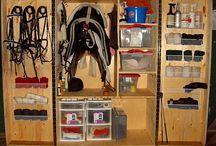 armoire rangement chevaux / Armoire rangement d'affaires d'équitation