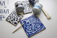 Scratching the Surface: Glaze Sgraffito / Lesson plan for upcycling glaze commercial tiles with Teachers Palette glazes. Amaco provides free ceramic clay lesson plans for all ages