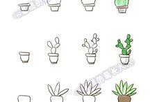jak narysować rośliny