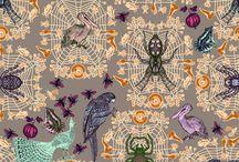 ARAIGNEES / SPIDERS - DESIGN / TEXTILE ART DESIGN - MICHAEL CAILLOUX
