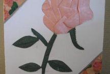 meghívó kártya  -  rózsa