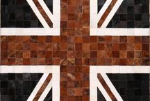 patchwork cowhide leather rugs / We promise to deliver all rugs within 14 working days or get a £50 refund