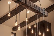Wood Pipe  lights