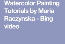 watercolour how to Maria Raczynska